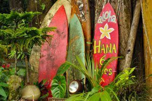 Welcome Display On The Road To Hana, Hawaii