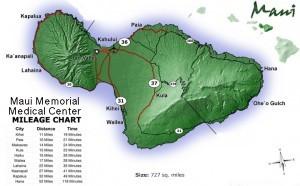 Maui Memorial Medical Mileage