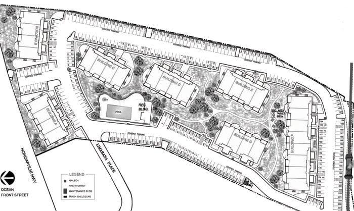 Opukea at Lahaina Site map
