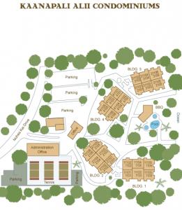 Kaanapali Alii Site Map
