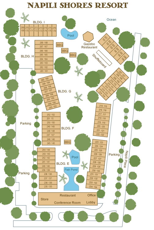 Napili Shores Site Map