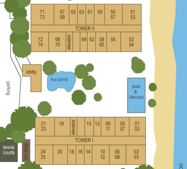 Whaler on Kaanapali Beach Site Plan