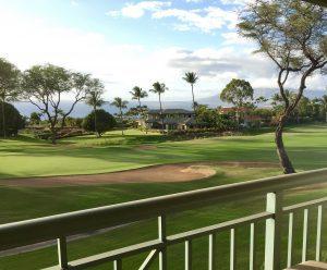 Wailea Golf Villas view from Lanai