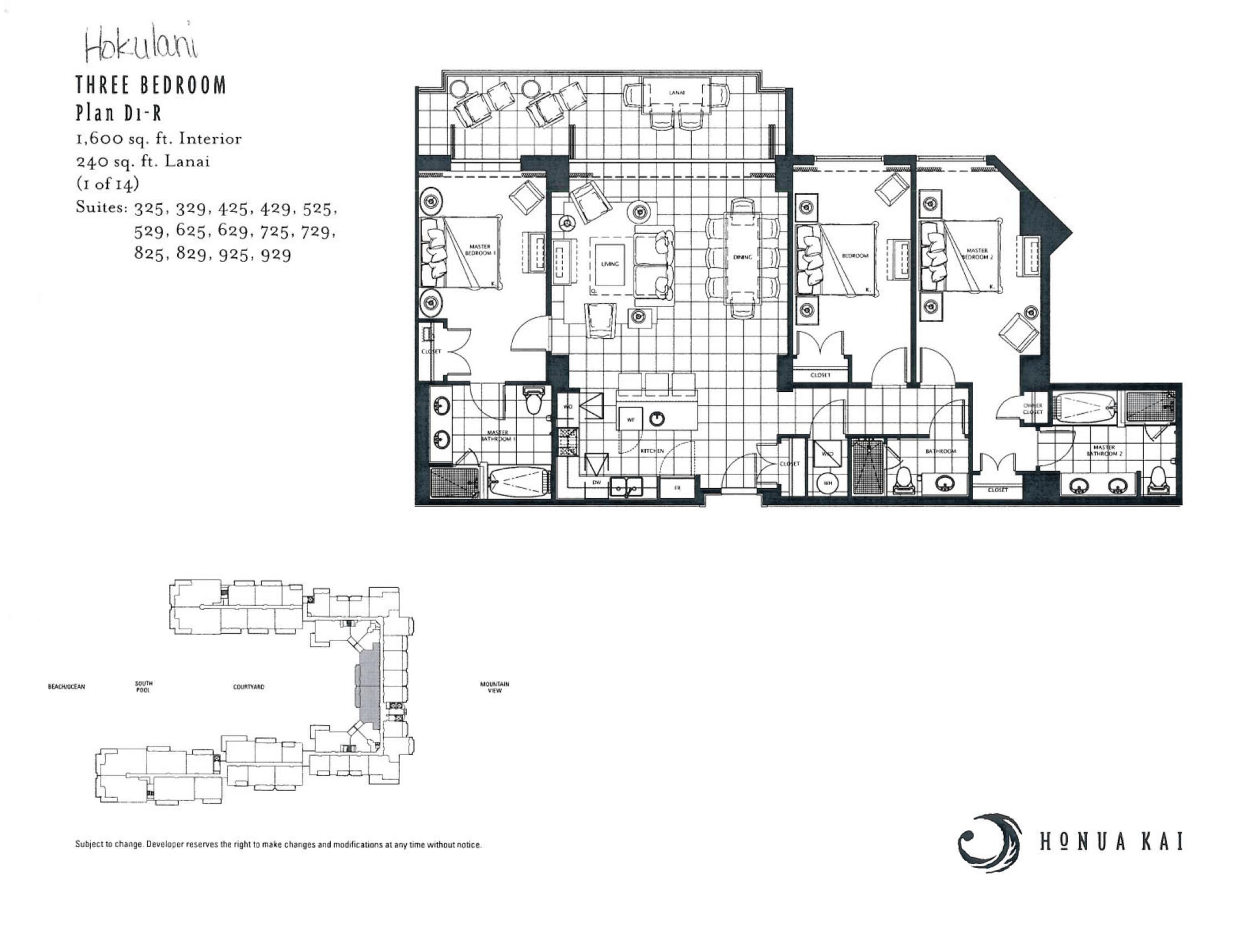 Honua Kai 3 BR D1-R