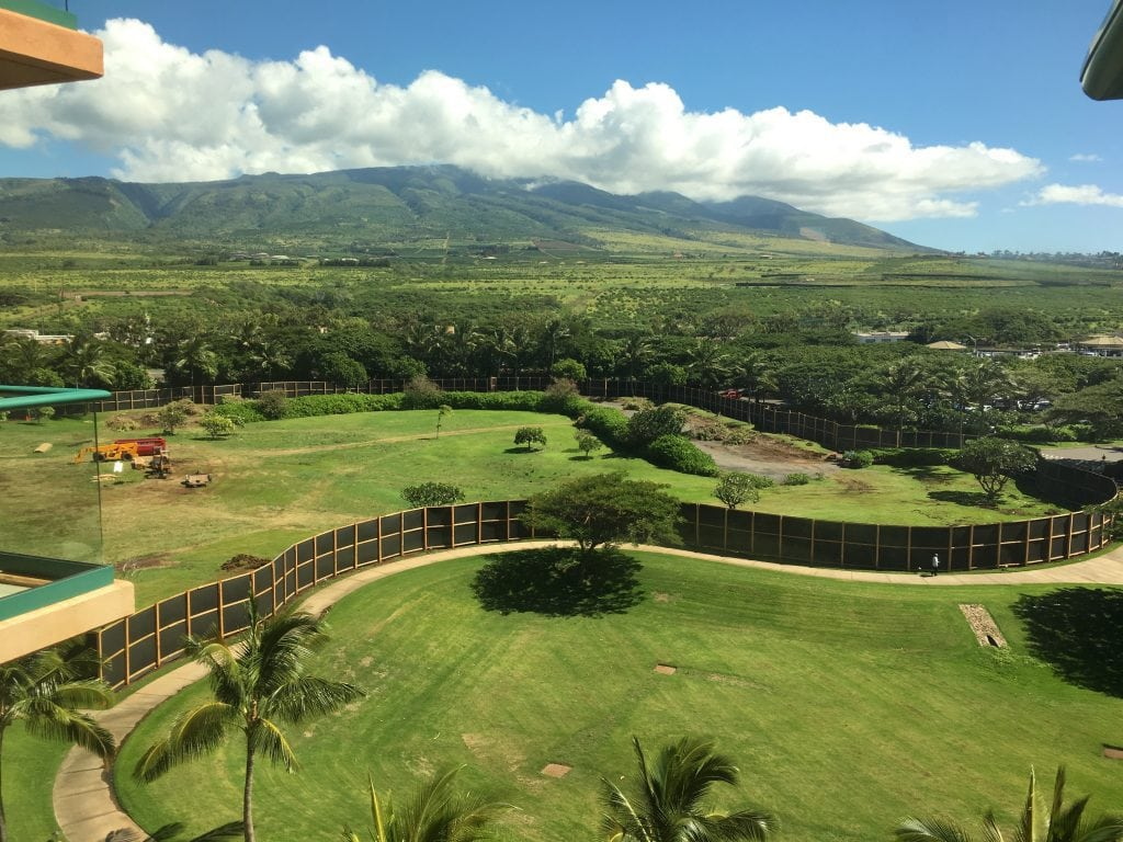Honua Kai Luana Villas Construction Fence
